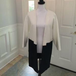 Zara Navy & White Coat Size XS